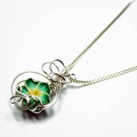 Wire Wrap Perfume Pendant 16 by Create-A-Pendant