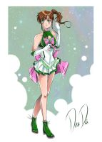 Super Sailor Jupiter - New Outfit Redesign by DeaDia89