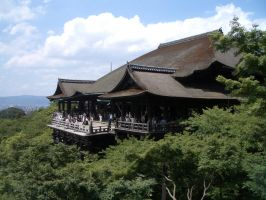 Japan hillside temple by CAStock