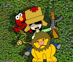 Elmo Lion Cookie AK47 Box by chelano