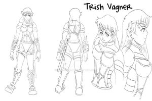 Steel Blood - Characters - Trish Vagner by Reenave