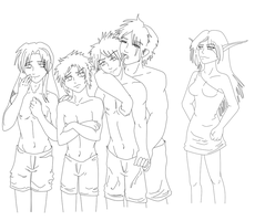 My Yaoi Characters - Lineart by samuraXIV