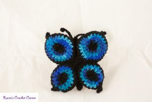 Swallowtail Butterfly Rattle by karenscrochetcorner
