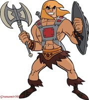 He-man with shield and ax by Granamir30