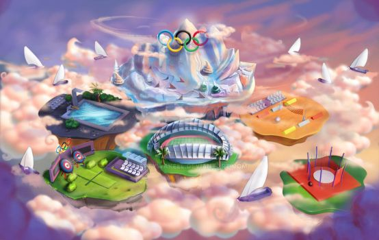 Olympic Mobile game Map by artywakeel