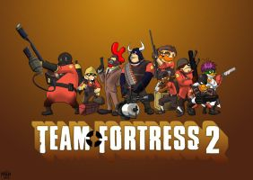 Team fortress 2 darkwing villians by MAD-Ina