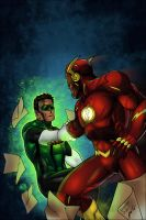 Justice League 1# Fan comic by LTartist