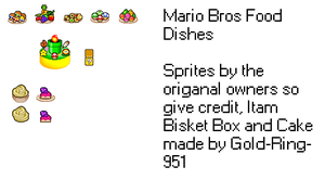 Mario Bros Food Dishes Sprite by gold-ring-951