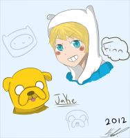 Finn and Jake by Domichii-chan