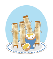 Boiled Egg and Soldiers by Nashiil