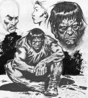 FRANKENSTEIN sketches by benitogallego