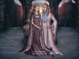 Celeborn and Galandriel by SweetteeStanley18