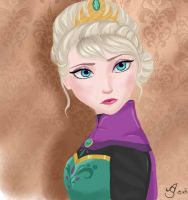 Elsa, Queen of Arendelle by xRainsxKissx