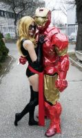 Ms. MArvel and Iron Man by Youei