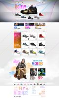 Graphic Sneakers store website design by Dexign-Oxigen