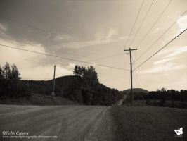 Dirt Road and Powerlines 3 (2014) Felix Catora by StarMothPhotography
