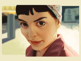painting practice - Amelie by DanielaUhlig