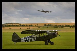 PIPER CUB AND FORTRESS by ScarredWolfphoto
