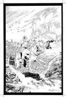 illustration in tribute_ Prince Valiant_ ink by AllJeff