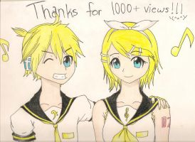 Thank you for 1000+views!!!! by BlazingSapphireCat
