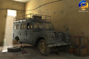 Old Landrover by Gandoza