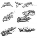 Spaceship Concepts sketch by Fedrick