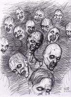 Zombie Pen Sketch 3-27-2013 by myconius