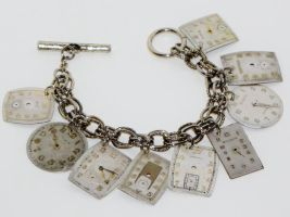 Steampunk Charm Bracelet by AlteredXpressions