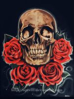 Skull and Roses by apriljohnson
