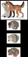 Wolf Pups and Couple Adoptables! 1 PUP LEFT by Shiverpelts-adopts
