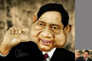 SBY caricature by hideyoshiliu