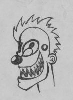 mohawk clown by Bodhi-The-Wicked