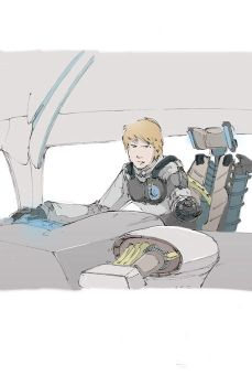 Sean as a pilot by Firepoint