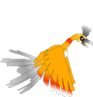 My first vector of, Ho-oh. by Flutterflyraptor
