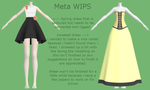 MMD Dresses W.I.P. by 0-0-Alice-0-0