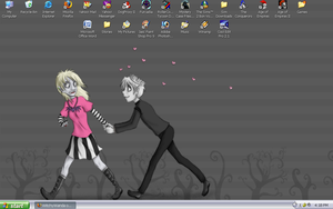 Love Hate Relationship Desktop by WitchyWanda