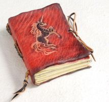 A Red Unicorn Journal by gildbookbinders
