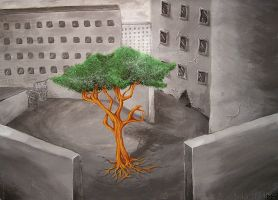 A Tree in is Environment II by Seyreene