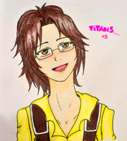 hanji love titans - colored by geriwiri
