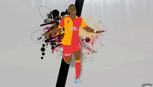 Didier Drogba Cartoon-Wallpaper by bluezest1997