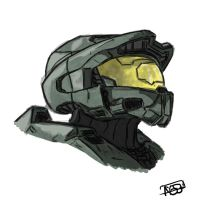 Master Chief Helmet by NessunoY59