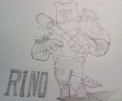 Scribble : Crusader Rino by LenToTo