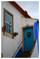Obidos Old Door and Window by FilipaGrilo