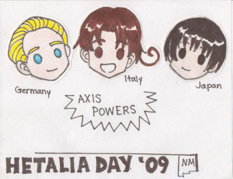 Hetalia Day NM nametags: Axis by tokicandy