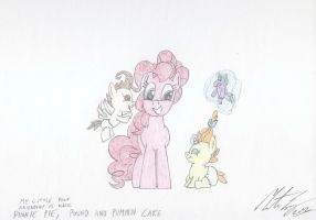 MLP:FiM - Pinkie Pie, Pound and Pumpkin Cake. 2 by MortenEng21