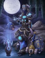 Draenei Shaman by Sleepingfox