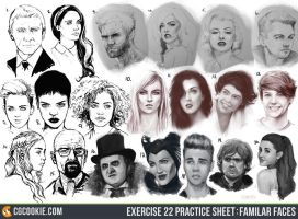 Exercise 22 Results: Familiar Faces by CGCookie