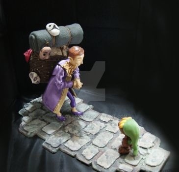 Happy Mask Salesman diorama by vrlovecats
