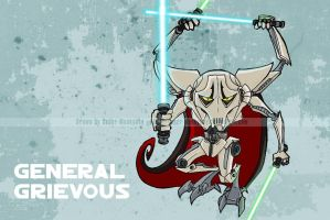 SW Chibis - General Grievous by happymonkeyshoes