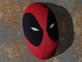 Deadpool Mask Papercraft by Tektonten